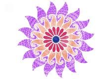 Kleurrijke spiraalvormige bloemenillustratie van verschillend patroon van borstels stock illustratie