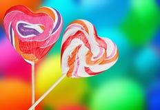 Kleurrijke spiraalvormige lollys Royalty-vrije Stock Afbeeldingen