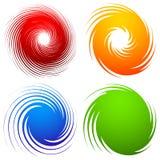 Kleurrijke spiraalvormige reeks Abstracte werveling, de elementen van het draaiontwerp met royalty-vrije illustratie