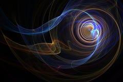 Kleurrijke spiraalvormige rook Stock Fotografie