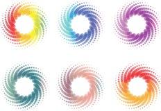 Kleurrijke spiralen Stock Afbeeldingen