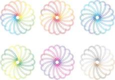 Kleurrijke spiralen Royalty-vrije Stock Afbeelding