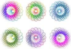 Kleurrijke spiralen Royalty-vrije Stock Fotografie