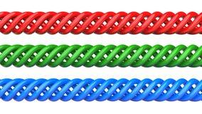 Kleurrijke spiralen Royalty-vrije Stock Foto