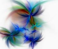 Kleurrijke spiralen op een lichte achtergrond Stock Fotografie