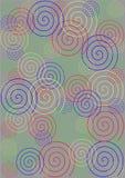 Kleurrijke spiralen op grijze achtergrond Royalty-vrije Stock Foto