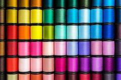 Kleurrijke spoel van draden Royalty-vrije Stock Foto