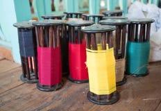 Kleurrijke spoelen Royalty-vrije Stock Foto