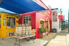 Kleurrijke Sponsdokken in Florida Stock Foto