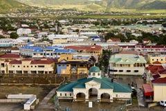 Kleurrijke St Kitts Stad Stock Afbeelding