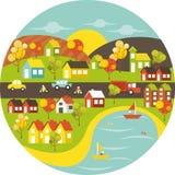 Kleurrijke Stad vector illustratie