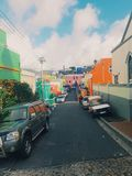 Kleurrijke stad royalty-vrije stock foto