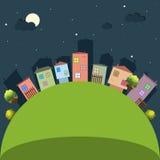 Kleurrijke Stad, Huizen voor Verkoop/Huur De huizen van onroerende goederen?, Vlakten voor verkoop of voor huur Royalty-vrije Stock Foto's