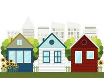 Kleurrijke Stad, Real Estate, Gezond het Leven Concept royalty-vrije illustratie