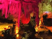 Kleurrijke stalactieten Royalty-vrije Stock Afbeeldingen
