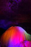 Kleurrijke stalactieten royalty-vrije stock foto
