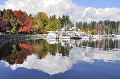 Kleurrijke Stanley Park in de herfst Royalty-vrije Stock Afbeeldingen