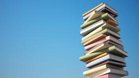 Kleurrijke Stapel Boeken met het Knippen van Weg Stock Foto's
