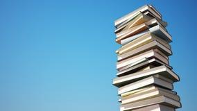 Kleurrijke Stapel Boeken met het Knippen van Weg Royalty-vrije Stock Afbeelding