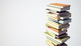 Kleurrijke Stapel Boeken met het Knippen van Weg Royalty-vrije Stock Fotografie