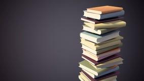 Kleurrijke Stapel Boeken met het Knippen van Weg Royalty-vrije Stock Afbeeldingen