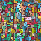Kleurrijke stedelijke abstracte patroon Naadloze heldere textuur Stock Fotografie