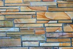 Kleurrijke steenmuur Stock Foto