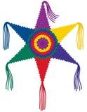 Kleurrijke Ster Pinata Stock Afbeelding