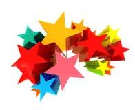 Kleurrijke sterren Stock Foto's