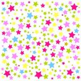 Kleurrijke sterrenachtergrond Stock Afbeelding