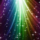 Kleurrijke sterrige hemel Royalty-vrije Stock Afbeeldingen