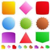 Kleurrijke stickers stock illustratie