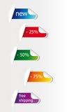 Kleurrijke stickers royalty-vrije illustratie