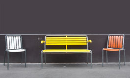 Kleurrijke stoelen Stock Foto