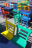 Kleurrijke stoelen Royalty-vrije Stock Afbeeldingen