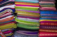 Kleurrijke Stof Stock Fotografie