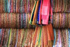 Kleurrijke stof Stock Foto's