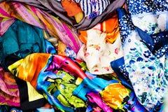 Kleurrijke stof Stock Afbeelding