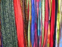 Kleurrijke Stoffen stock afbeelding