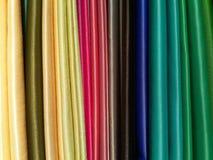 Kleurrijke stoffen Stock Fotografie