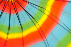 Kleurrijke stoffentextuur van paraplu voor achtergrond royalty-vrije stock fotografie