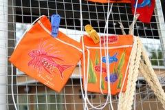 Kleurrijke stoffenzakken, Rodrigues Island Royalty-vrije Stock Fotografie
