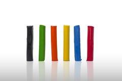 Kleurrijke stokken Plasticin Stock Afbeeldingen
