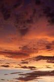 Kleurrijke stormachtige hemel Royalty-vrije Stock Afbeeldingen