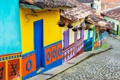 Kleurrijke Straat stock foto's