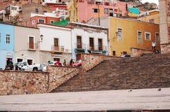 Kleurrijke straat Stock Afbeelding