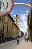 Kleurrijke straat in Bogota Stock Foto