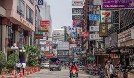 Kleurrijke straat van Bangkok, Thailand stock afbeelding