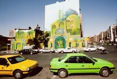 Kleurrijke straatgebouwen in Iran Stock Foto