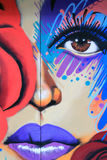 Kleurrijke straatkunst in NYC Stock Afbeeldingen